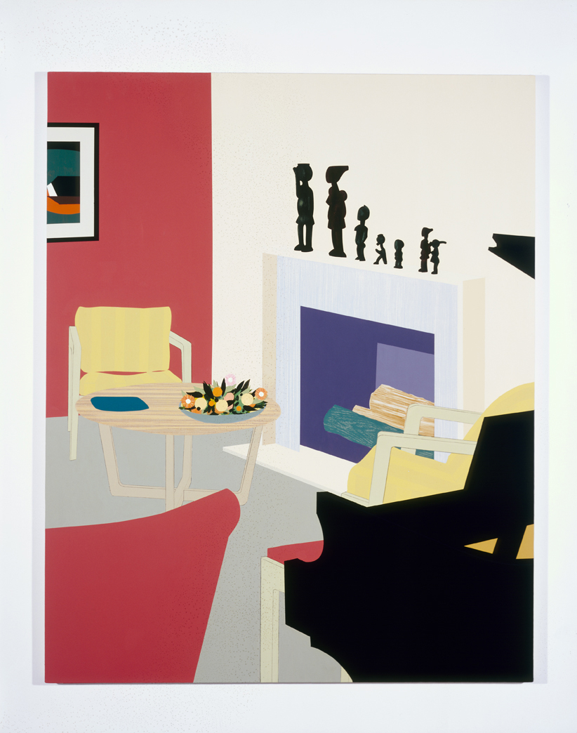Untitled Interior 2, 1995  Oil and acrylic on canvas over panel  72 x 60 inches  182.88 x 152.4 cm