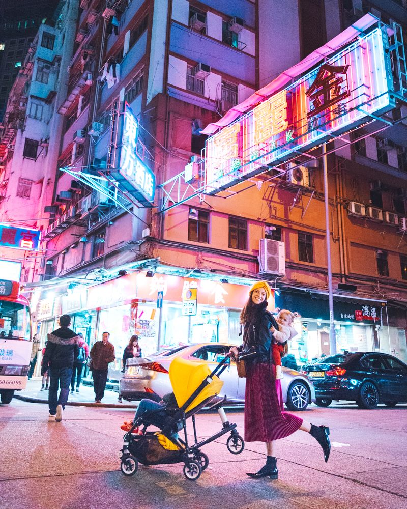 The night in Mong Kok.