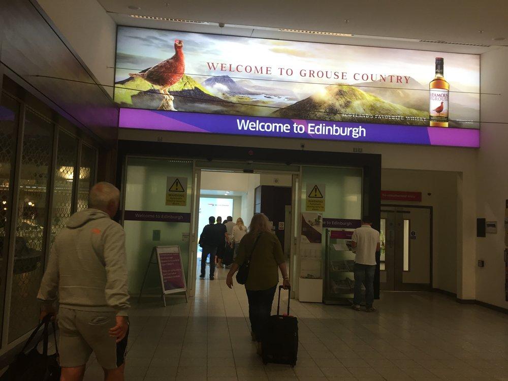Arriving at the Edinburgh Airport