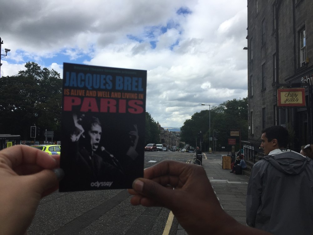 Dara and Imani bring Jacques Brel to the streets of Edinburgh.