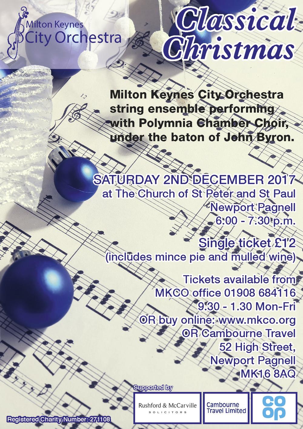 "Milton Keynes City Orchestra ""Classical Christmas"""