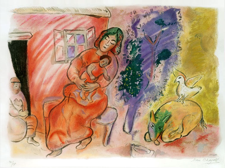 Marc Chagall, Maternité , 1954