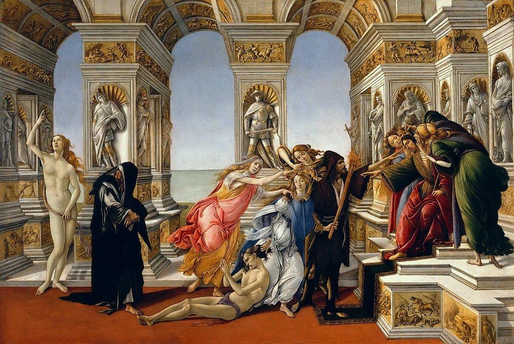 Sandro Botticelli, The Calumny of Apelles, c. 1496.