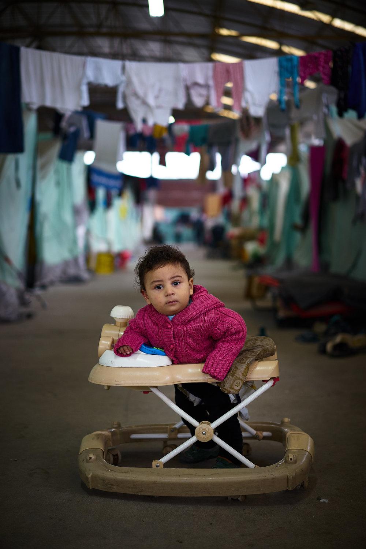 Beautiful child in camp