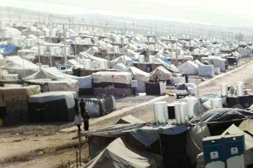 Khanke camp in northern Iraq, home to more than 18,000 displaced people, February 2017