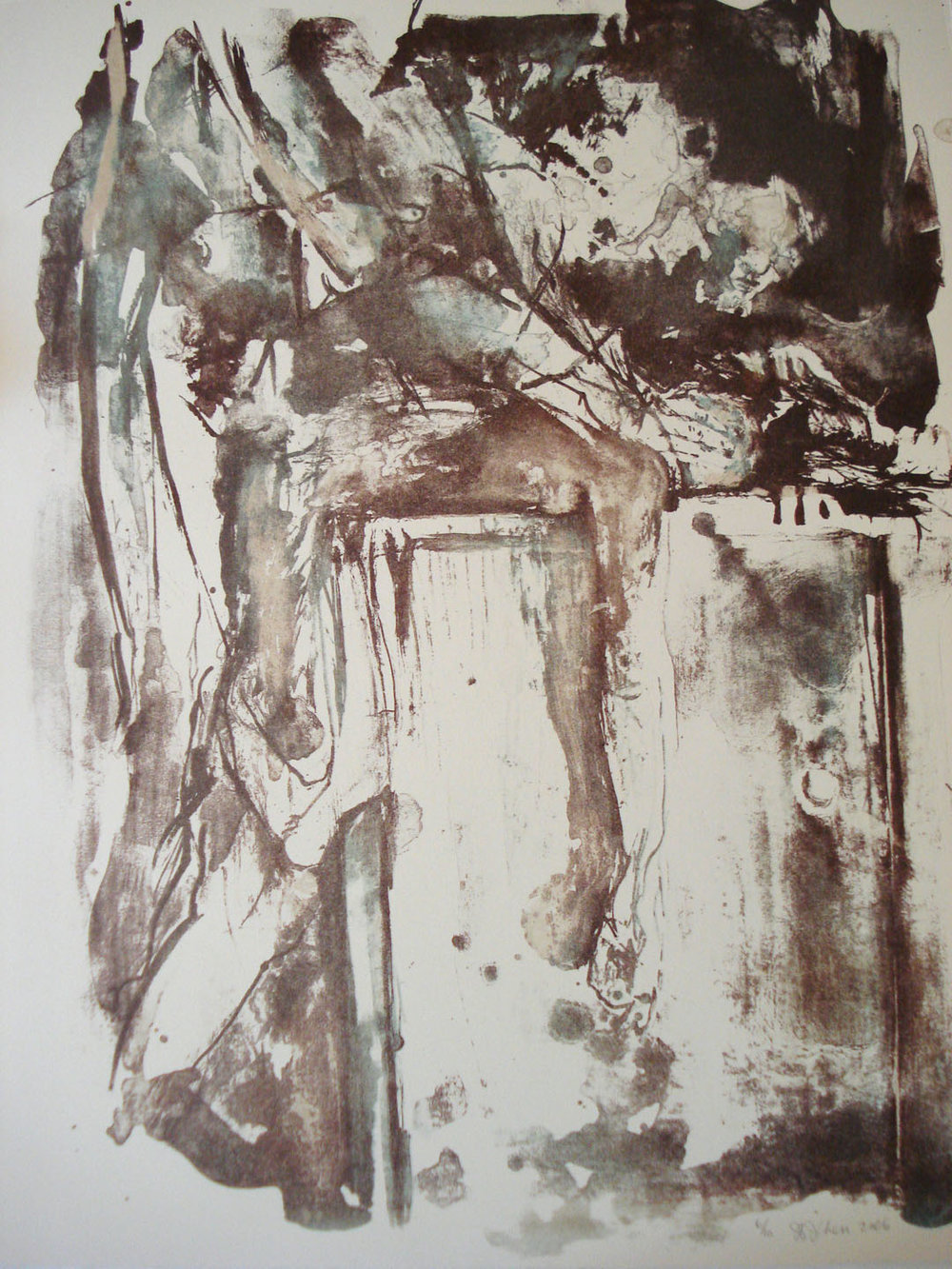 Untitled; 2006     Reductive Stone Lithograph, 18 x 15 in