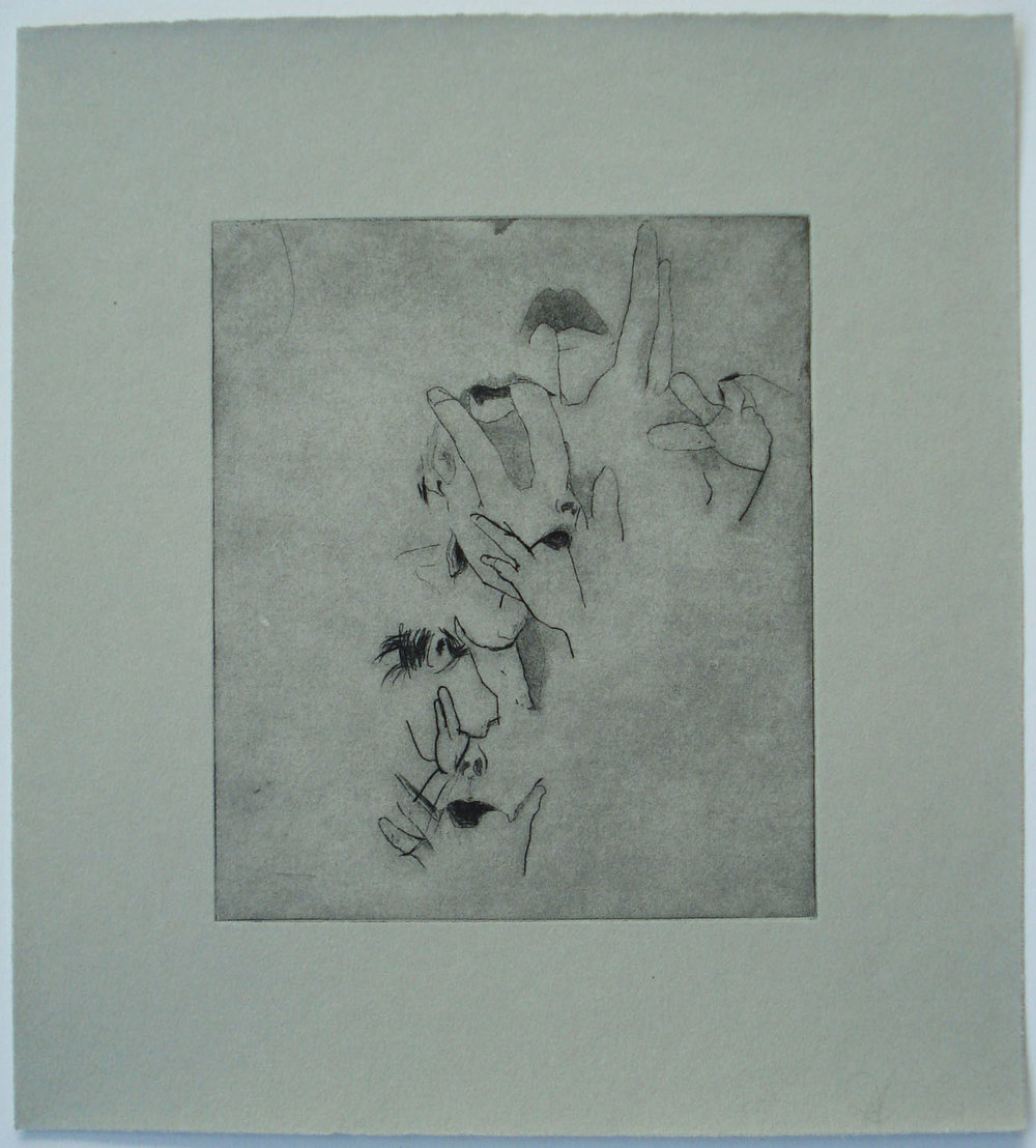 Purge, (TR SimonGreen); 2004    Drypoint, 9.5 x 10.5 in