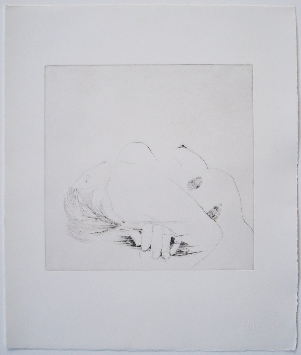 Untitled (fingerprint); 2004    Drypoint, 12 x 14 in