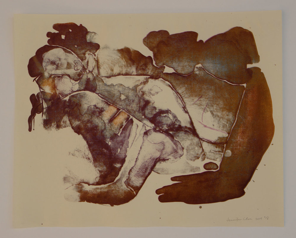 Untitled; 2009    Reductive Stone Lithograph, 15 x 18 in