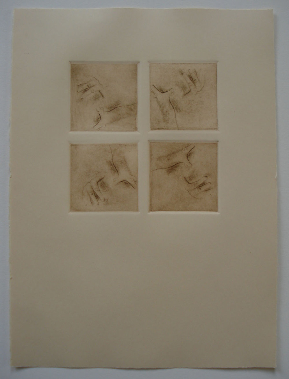 Untitled    (Patterns and Orientation; Perspective - Square Format); 2011   Intaglio; Drypoint, 15x11""