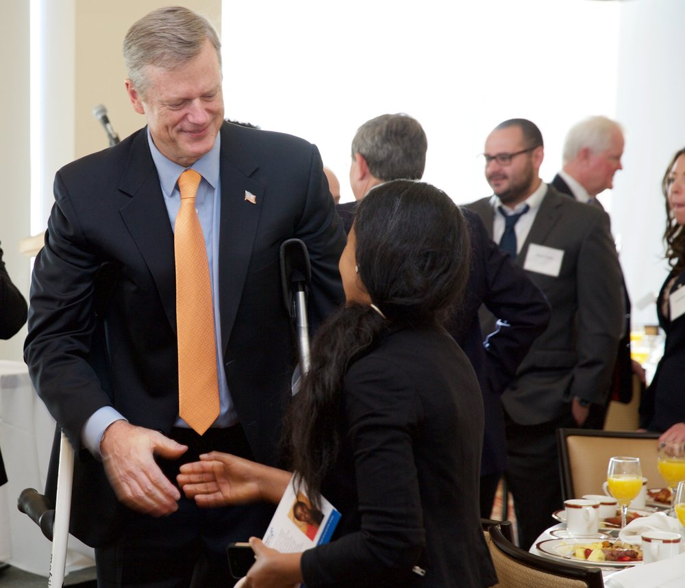 (security); Governor Charlie Baker; Sara Asfaha @ Tufts University (2).jpg