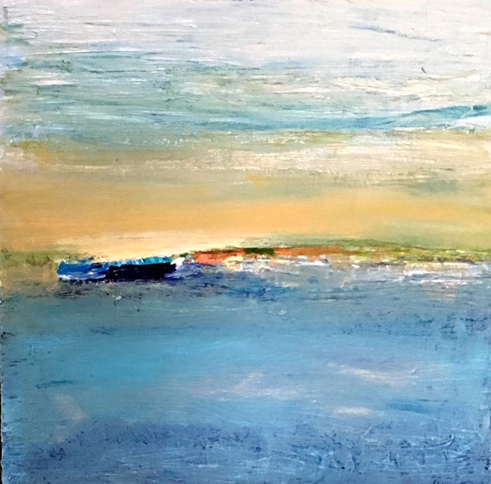 Beach   Lisa Finch Acrylic on Canvas 36x36 inches