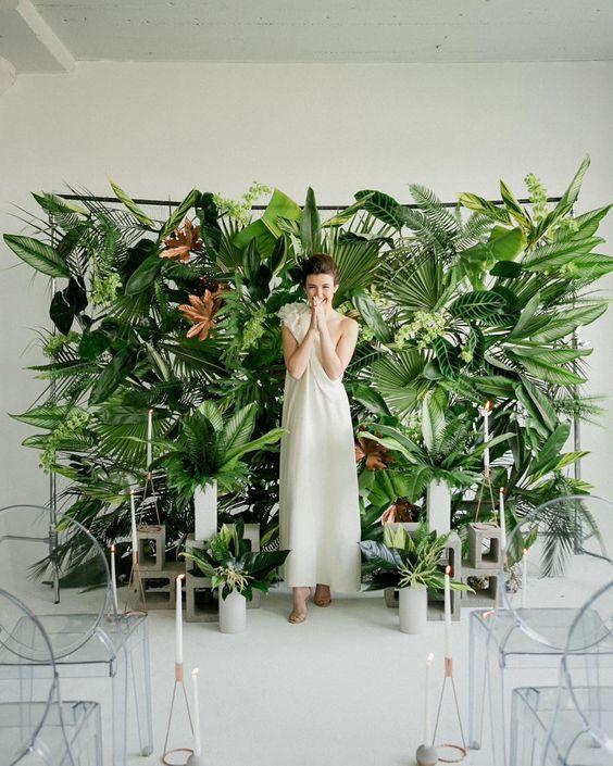 mariage feuille déco tropical palmier fun mur.jpg