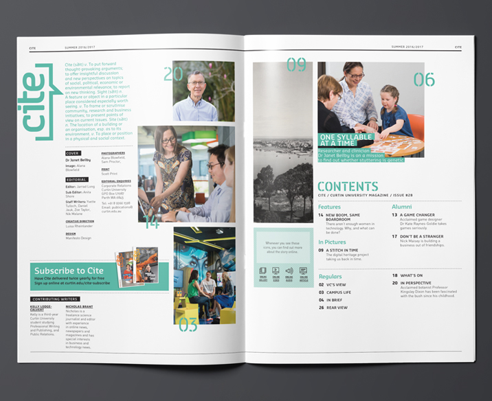 Curtin University Magazine Design
