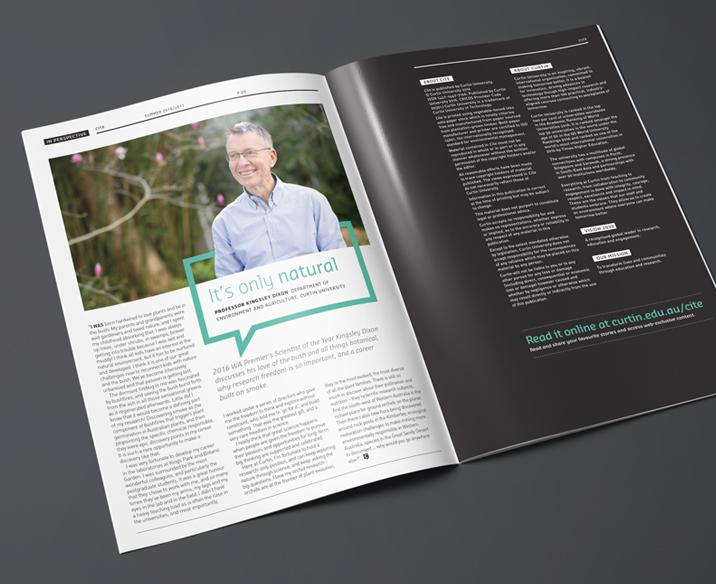 Curtin University Magazine Design