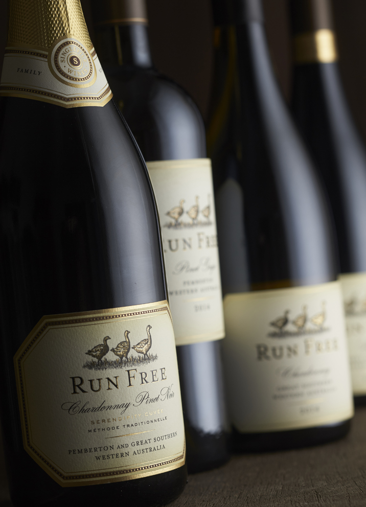 Run Free Sparkling Wine Label Design
