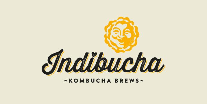 Indibucha Kombucha Logo Brand Design