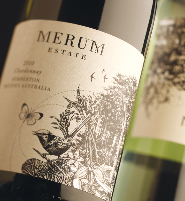 Merum Estate Wine Label Design
