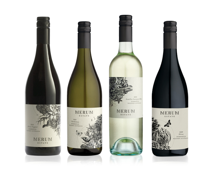 Merum Estate Wine Label Range Design