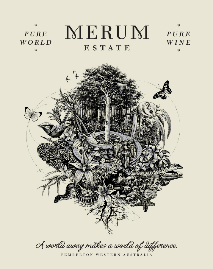 Merum Estate Wine Poster Design