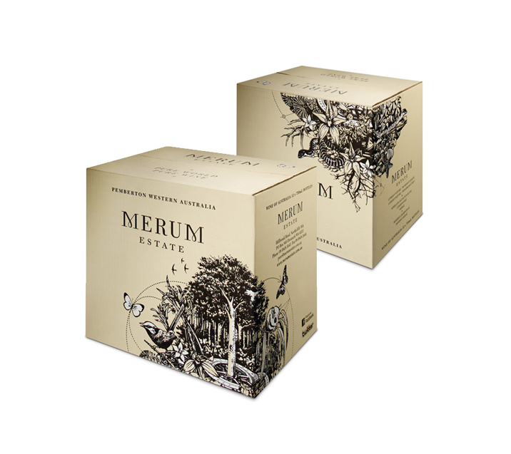 Merum Estate Wine Carton Design