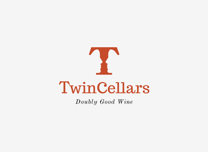 Twin Cellars logo design