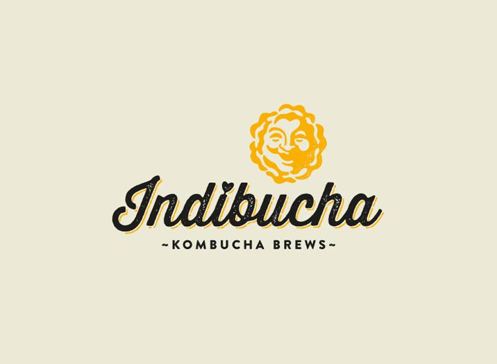 Indibucha logo design