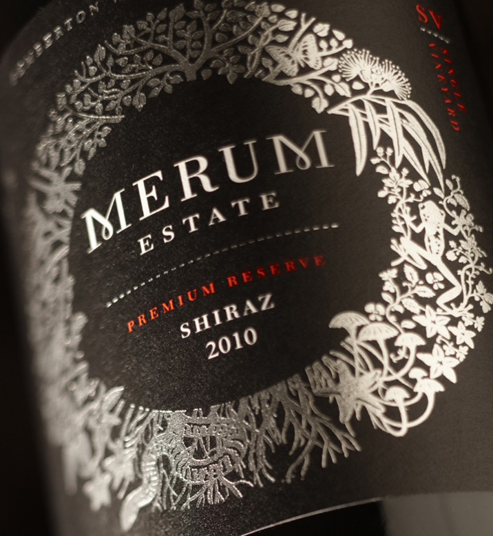 Merum Estate premium label design