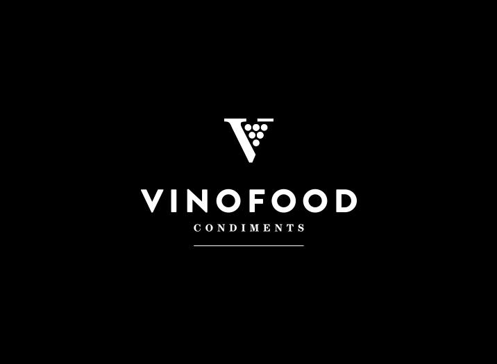 Vinofood Condiments logo design