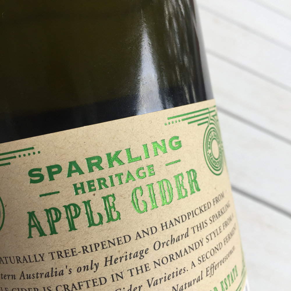 Harewood Estate Cider label design