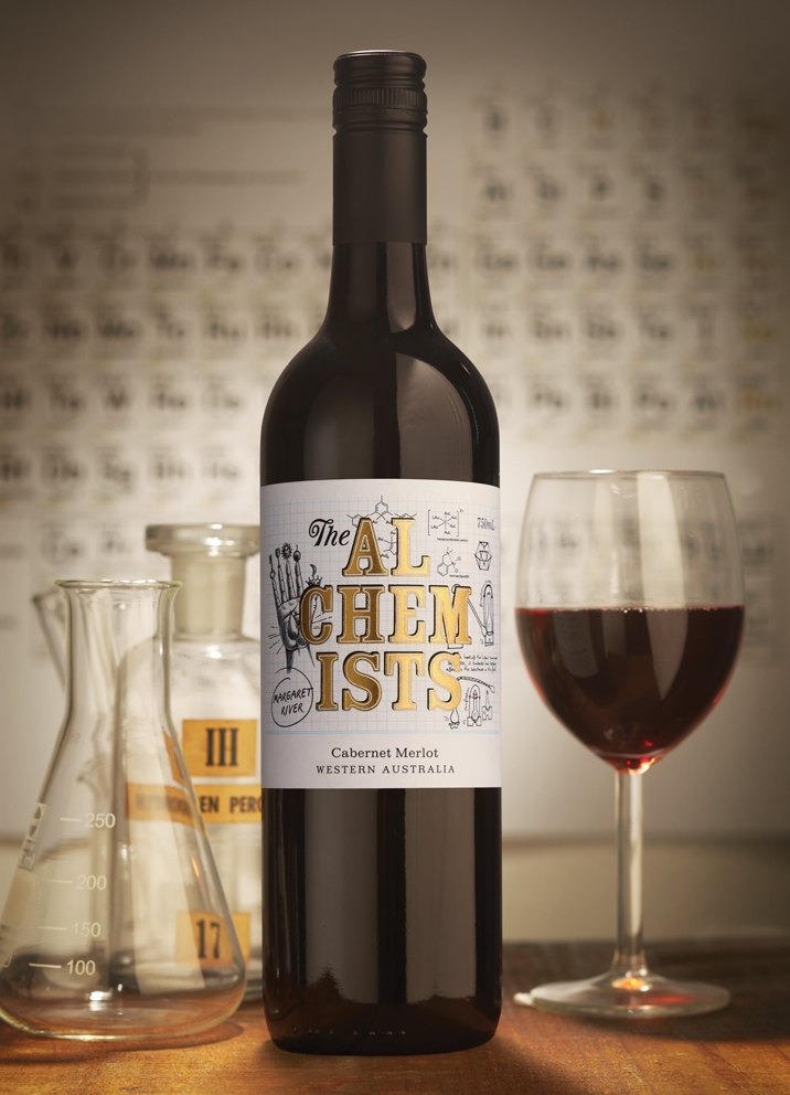 The Alchemists Wine label design