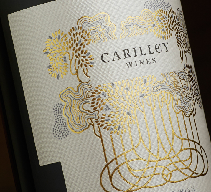 Carilley Estate wine label design