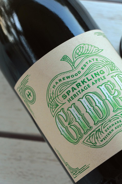 Harewood Cider label