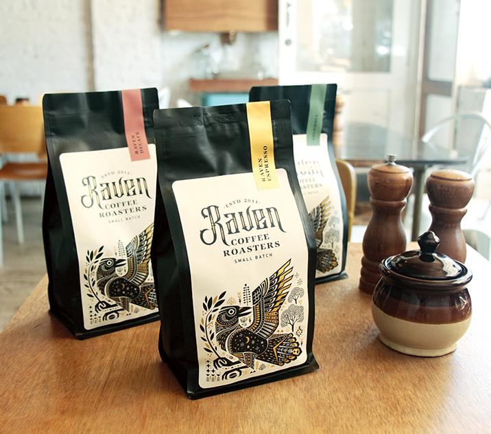 Raven Coffee Branding