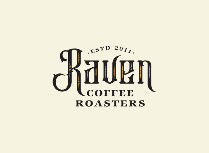 Raven Coffee logo design