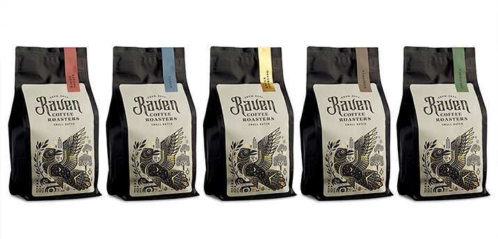 Raven Coffee range design