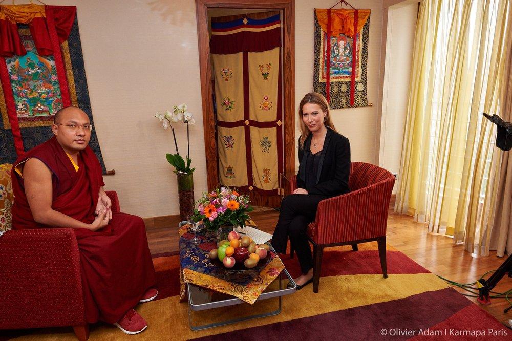 Rencontre avec le Karmapa