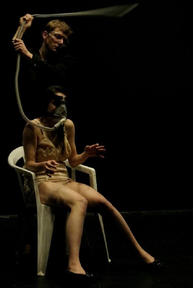 Théo Bluteau et Jennifer Cabassu, 2013 - Ça de Place des Fêtes | Photo : Erwan Courtel