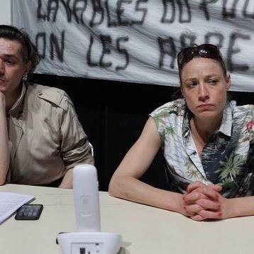 Nicolas Martel et Julie Moulier, Répétitions 2017 - CDN de Normandie Photogramme : Natalie Beder