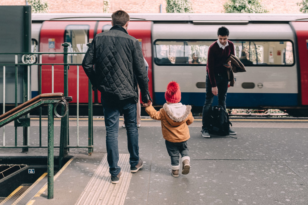 Father-Child-London-Tube
