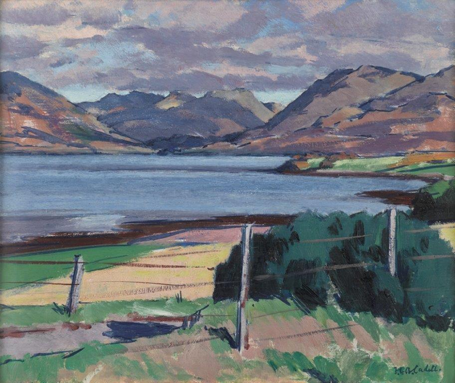 D. Francis Campbell Boileau Cadell, Loch Creran, Argyll, Oil on Board. Courtesy the Fleming Wyfold Foundation.jpg