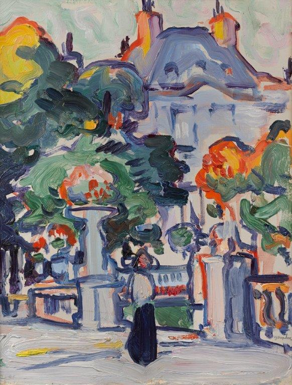 Samuel John Peploe, Luxembourg Gardens, c1910, oil on panel. Courtesy the Fleming-Wyfold Foundation.jpg