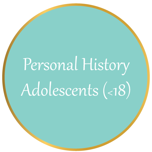 Personal History (Adolescents)