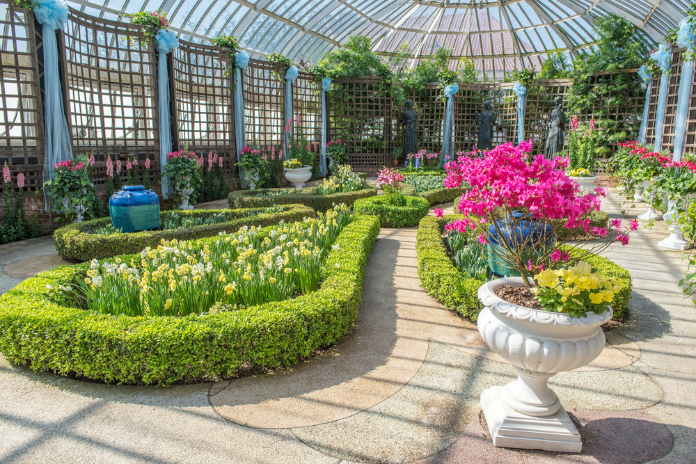 The broderie room during spring flower show, photo by paul g. wiegman