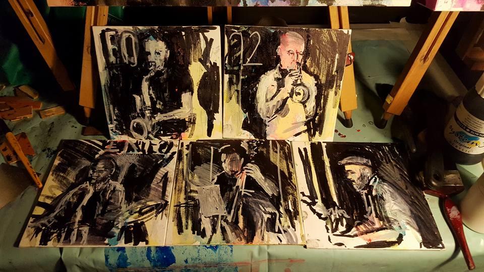 Live art by J Ellis - Baraka at Stereo 92, London, 2016