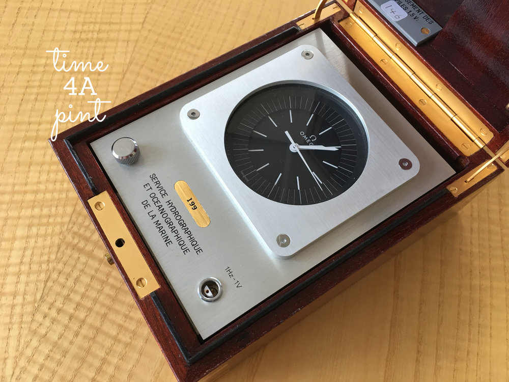 a French Navy issued Omega Megaquartz Chronometer Clock