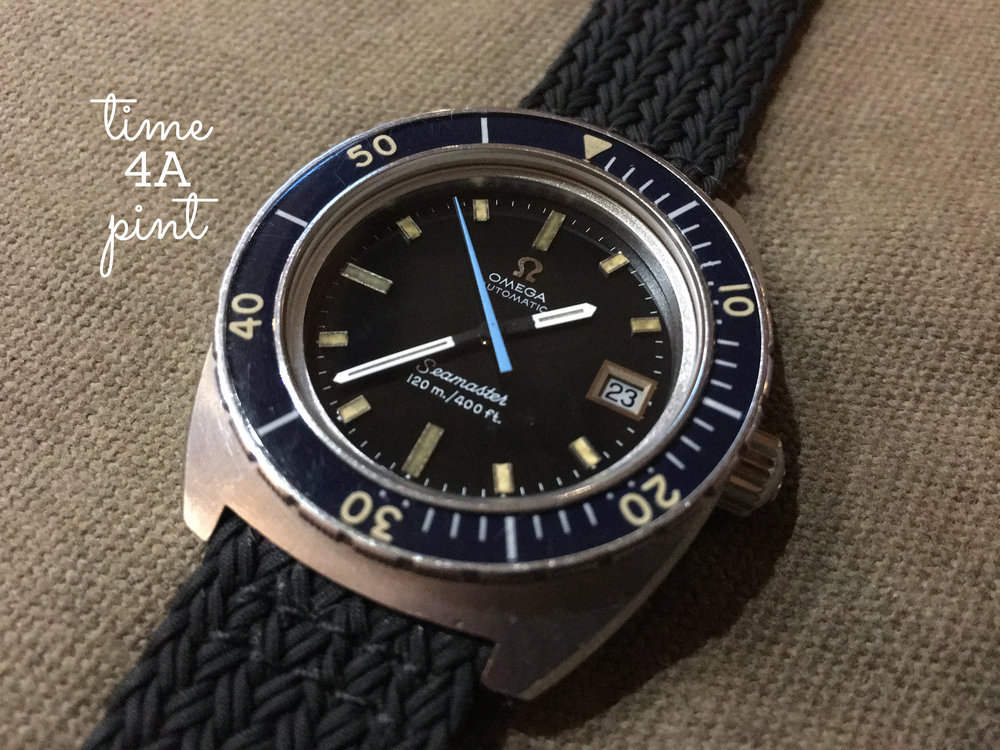 "Omega Seamster 120m ""Blue Sweep Hand"" 166.088"