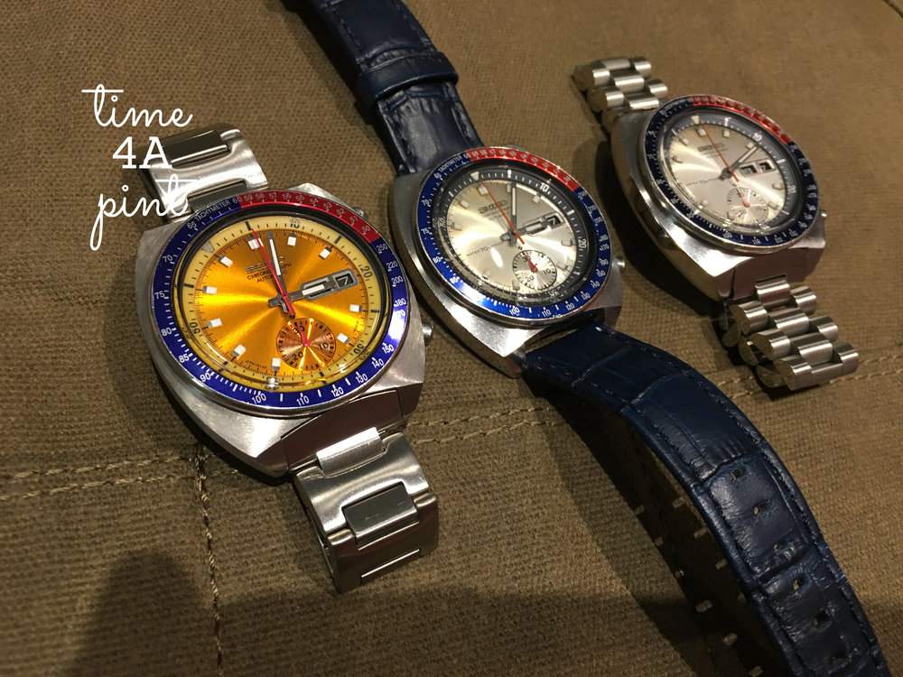 Three Seiko Pogues