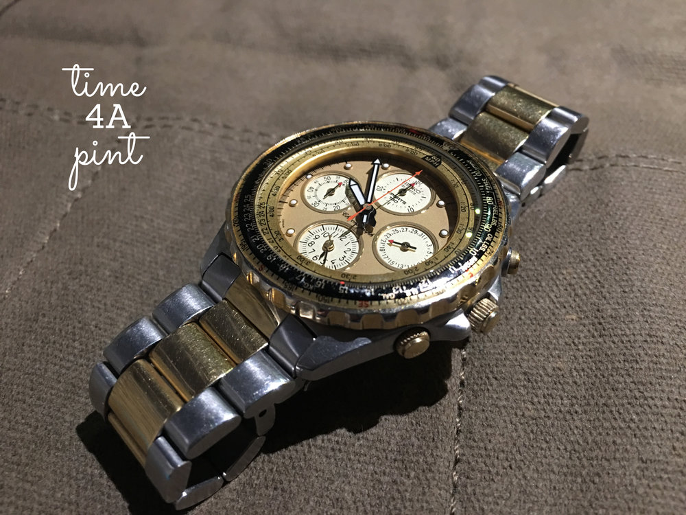 Seiko 7T34 Quartz Chronograph