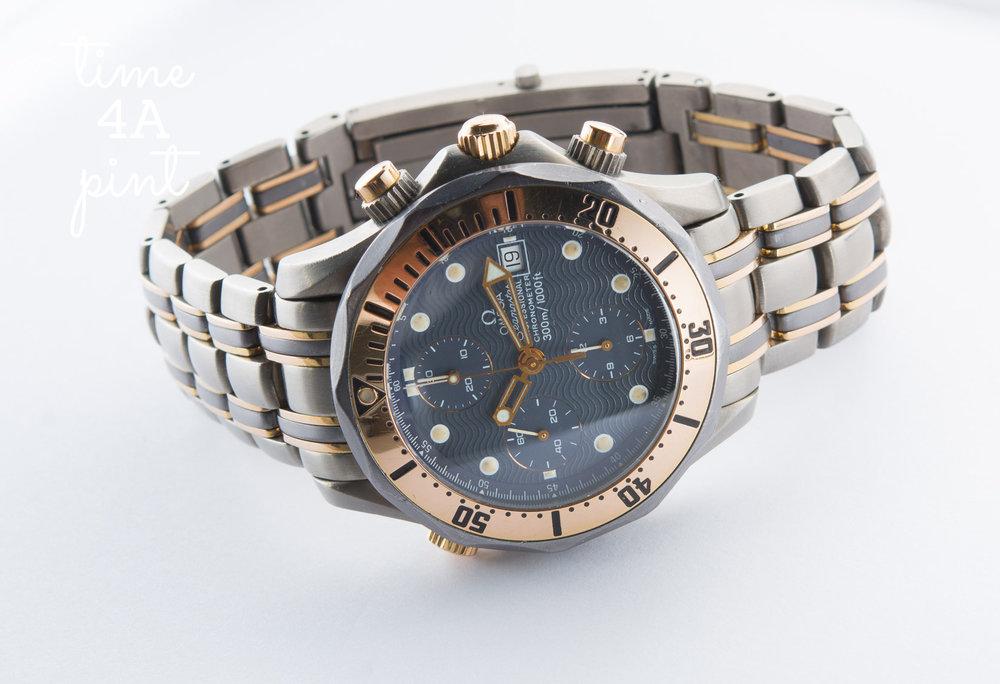 Omega Seamaster 300m Chronograph 2296.80 (Titanium/Tantalum/Rose Gold)
